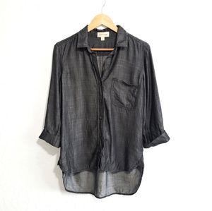 Cloth & Stone Denim Shirt Hi-Low Hem